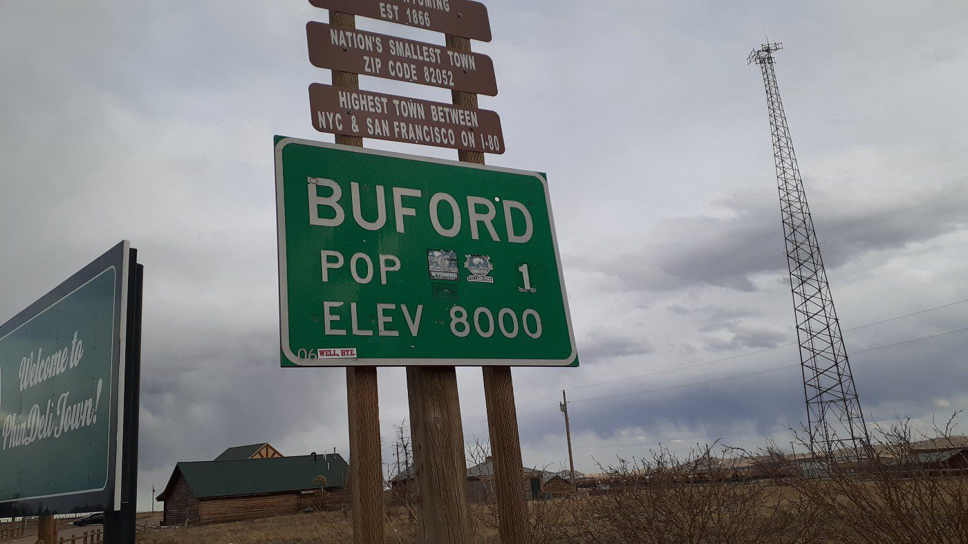Buford, Wyoming City Limit Sign