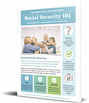 Social Security 101 Book from the Texas Medicare Advisors